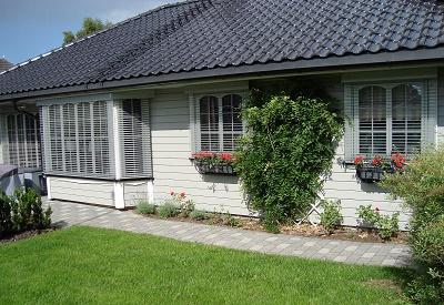 Med utvendige persienner fra Kjells markiser kan du redusere varmeinnslipp på en varm dag med opptil 90 %.