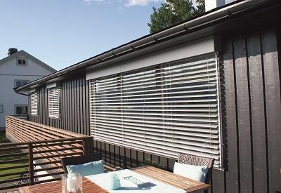 Med solide 80 mm persienner fra Kjells markiser er du sikret kvalitet med lang levetid og lite vedlikehold.