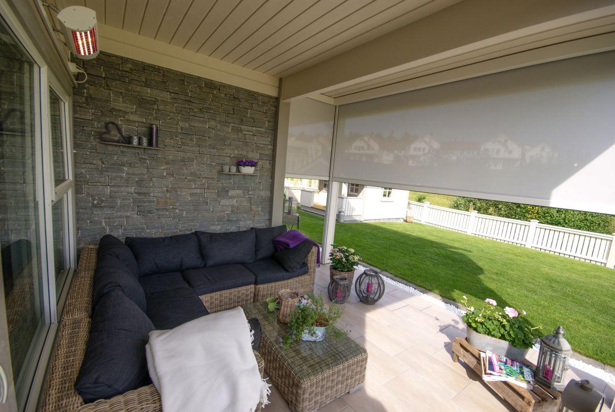 Somfy kvartsvarmer terrassevarmer - Kjellsmarkiser
