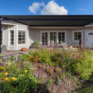 Modern Scandinavian wooden house exterior
