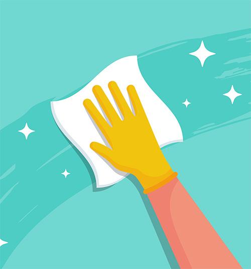 arm som vasker - illustrasjon